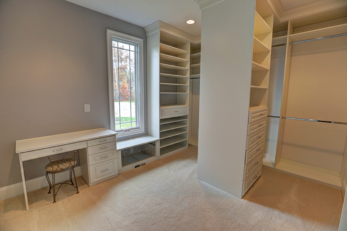 custom walk-in closet by richard atack construction